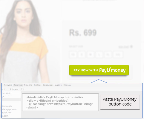 Paste PayUmoney Button Code